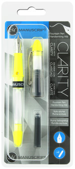 Manuscript Cartridge Pen Fountain Clarity Iridium Nib Yellow
