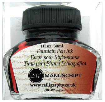 Manuscript Cartridge Pen Fountain Ink 30ml Red