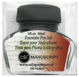 Manuscript Cartridge Pen Fountain Ink 30ml Black