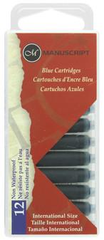 Manuscript Cartridge Pen Cartridges Blue 12pc