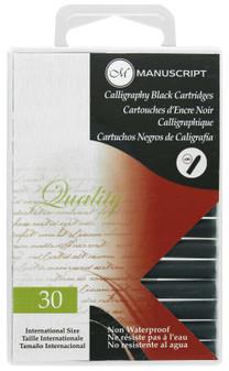 Manuscript Cartridge Pen Calligraphy Cartridge Black 30pc