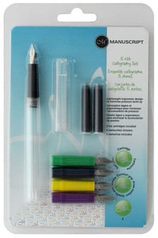 Manuscript Cartridge Pen Calligraphy Set 5 Nib