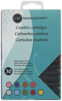 Manuscript Cartridge Pen Creative Ink Cartridge 30pc Assorted