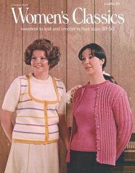 Leisure Arts Women's Classics Sweaters - Digital Pattern