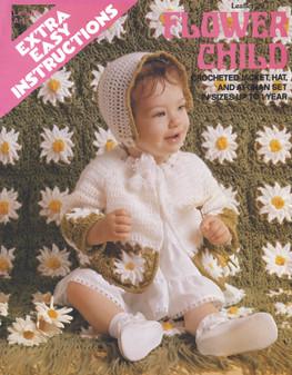 Leisure Arts Flower Child Crochet Set for Baby - Digital Pattern