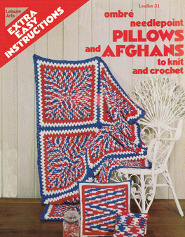 Leisure Arts Ombre Needlepoint Pillows and Afghans - Digital Pattern