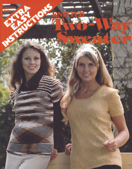 Leisure Arts Knitted Two-Way Sweater - Digital Pattern