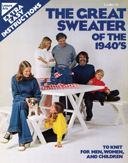 Leisure Arts the Great Sweater of the 1940s - Digital Pattern