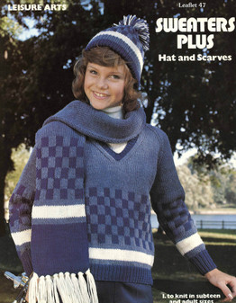 Leisure Arts Sweaters Plus Hats and Scarves - Digital Pattern