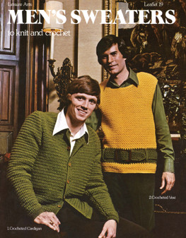 Leisure Arts Men's Sweater To Knit And Crochet - Digital Pattern