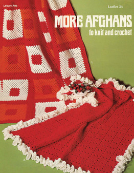 Leisure Arts More Afghans to Knit and Crochet - Digital Pattern
