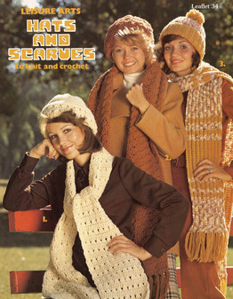 Leisure Arts Hats and Scarves to Knit and Crochet - Digital Pattern