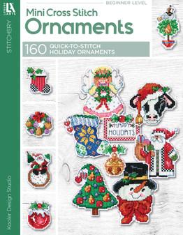 eBook Leisure Arts Mini Cross Stitch Ornaments