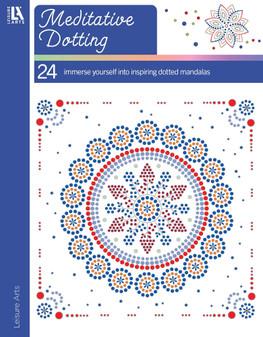 Leisure Arts Mediative Dotting Coloring Book
