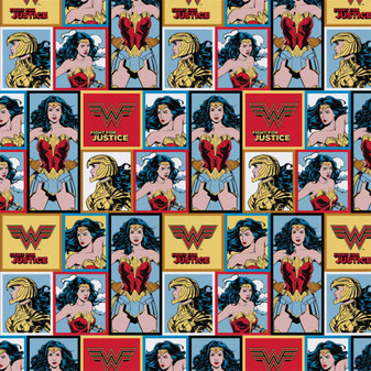 DC Comics Precut 2yd Wonder Woman 84 Blocks