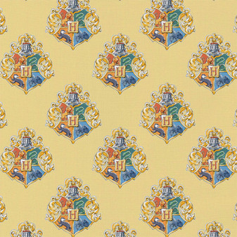 Harry Potter Precut 2yd Watercolor Crest Yellow