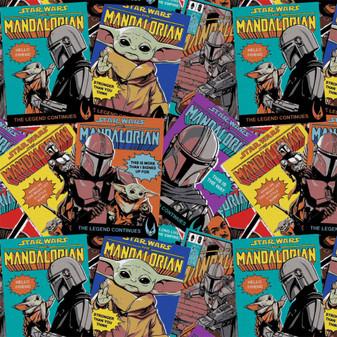 Mandalorian Precut 2yd Comic Posters