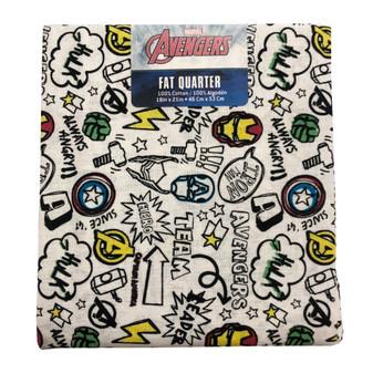 Marvel Fat Quarter Avengers Doodle 6pc