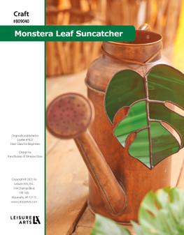 ePattern Stained Glass Monstera Leaf Suncatcher