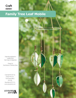 ePattern Stained Glass Family Tree Leaf Mobile