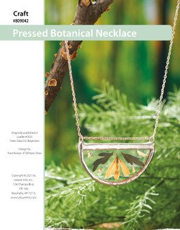 ePattern Stained Glass Pressed Botanical Necklace