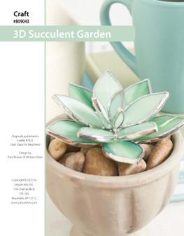 ePattern Stained Glass 3-D Succulent Garden