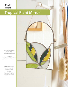 ePattern Stained Glass Tropical Plant Mirror
