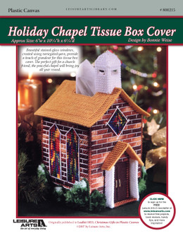 ePattern Holiday Chapel Tissue Box Cover