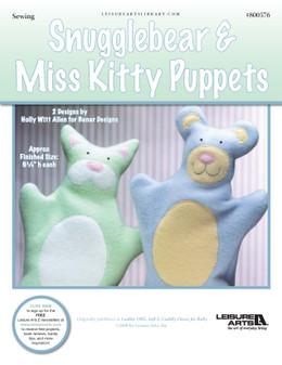 ePattern Snugglebear & Miss Kitty Puppets