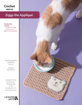 ePattern Crochet Ziggy the Applique & Mat