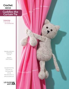 ePattern Crochet Culles the Curtain Tie Cat