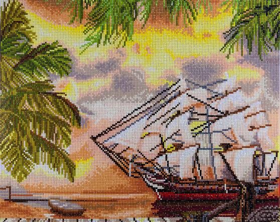 "Diamond Art Kit 14""x 16"" Advanced Pirate Ship"