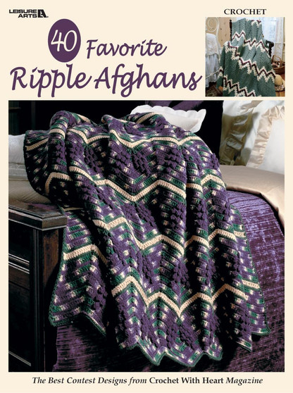 Leisure Arts 40 Favorite Ripple Afghans Crochet Book