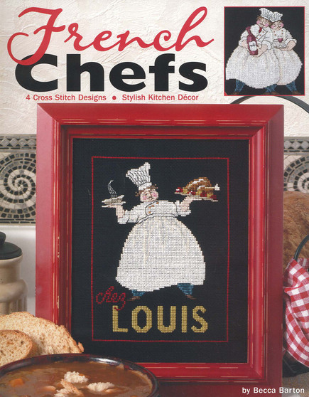 Leisure Arts French Chefs Cross Stitch Book