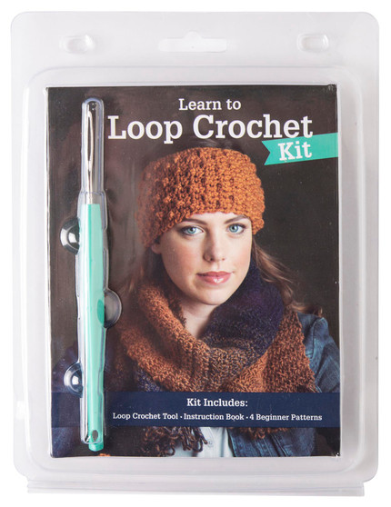 Leisure Arts Kit Learn To Loop Crochet With Book
