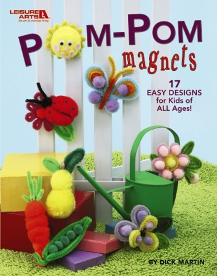 Leisure Arts Pom-Pom Magnets Book