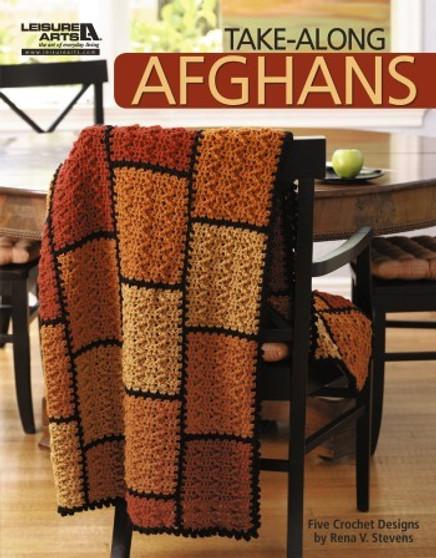 Leisure Arts Take Along Afghans Crochet Book