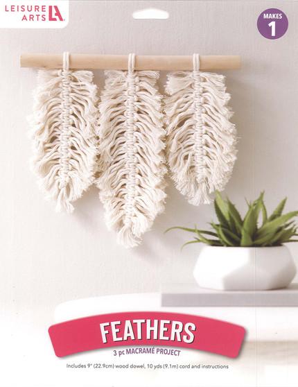 Leisure Arts Kit Mini Maker Macrame Feathers