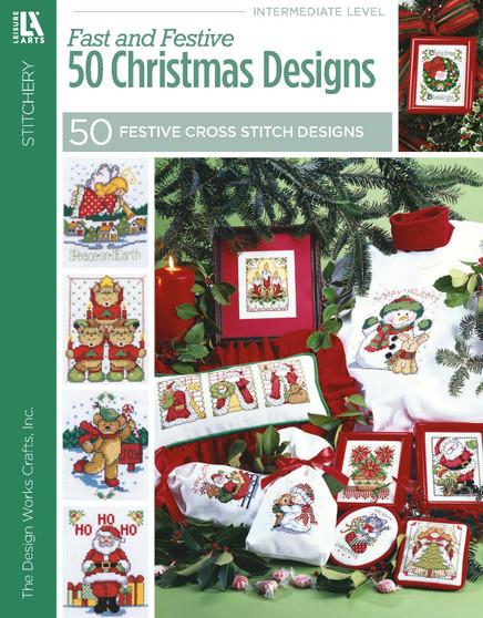 Leisure Arts Fast & Festive 50 Christmas Designs Book