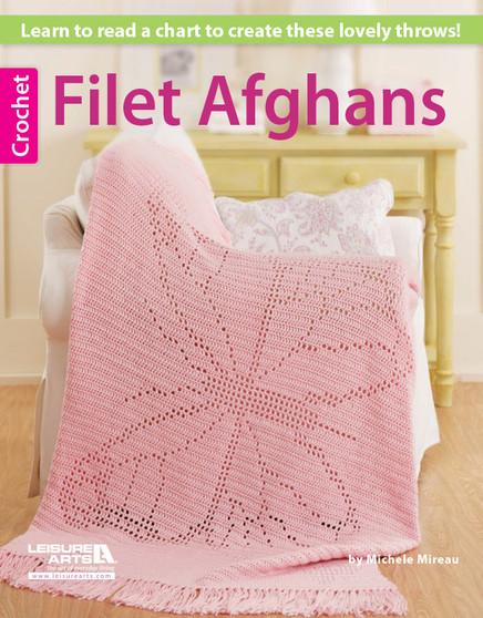 Leisure Arts Filet Afghans Crochet Book