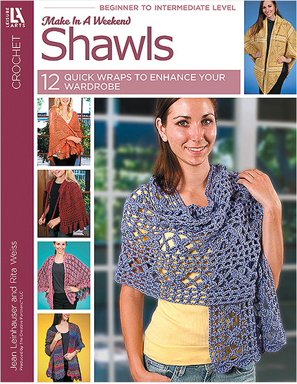 Leisure Arts Make In A Weekend Shawls Crochet Book