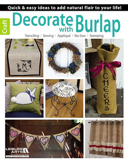 Leisure Arts Decorate With Burlap Book