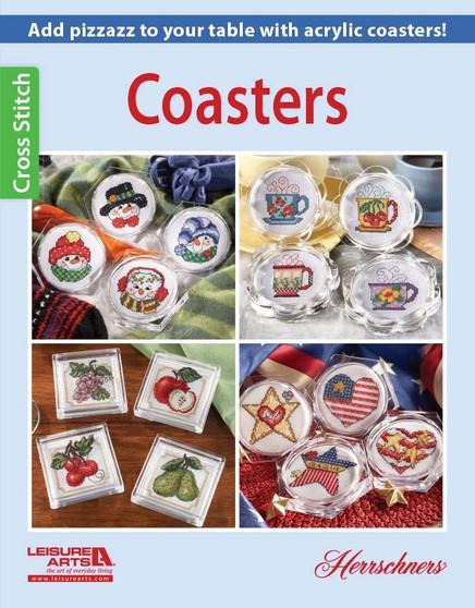 Leisure Arts Cross Stitch Coasters Book