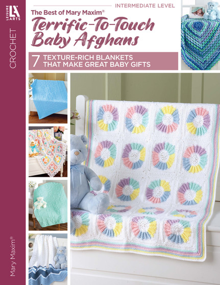 Leisure Arts Terrific To Touch Baby Afghans Crochet Book