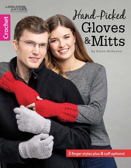 Leisure Arts Crochet Hand-Picked Gloves & Mitts Book