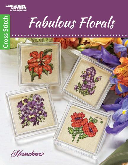 Leisure Arts Fabulous Florals Cross Stitch Book