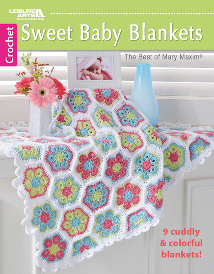 Leisure Arts Sweet Baby Blankets Crochet Book