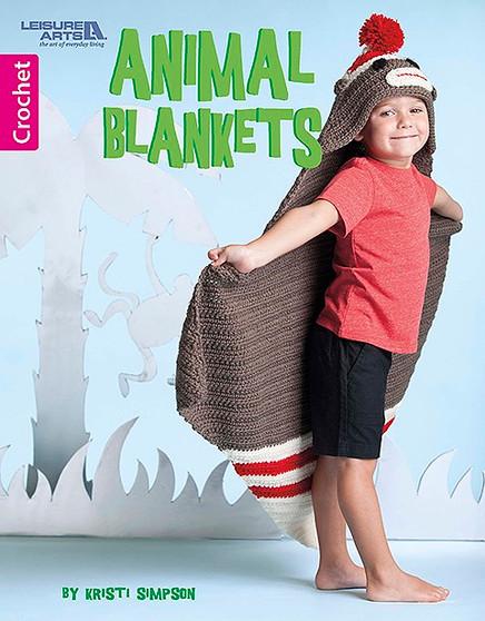 Leisure Arts Animal Blankets Crochet Book