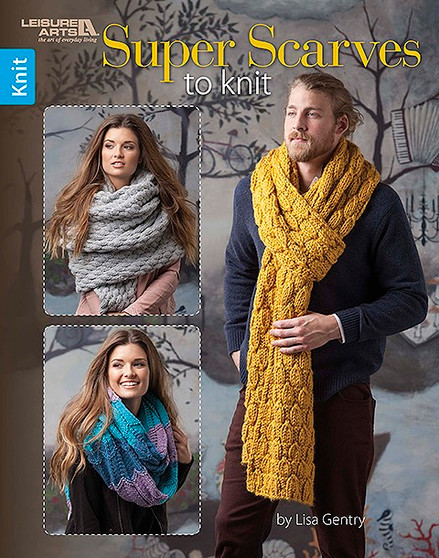Leisure Arts Super Scarves To Knit Book
