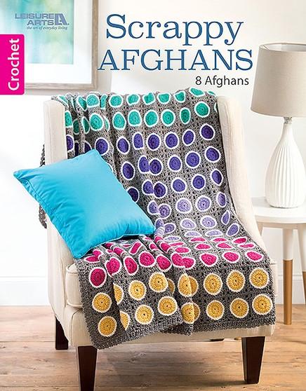 Leisure Arts Scrappy Afghans Crochet Book